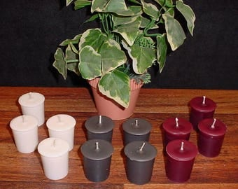 Set of 12 assorted votive candles