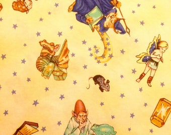 Quality cotton fabric-prewashed Clothworks fabric. Wizards and Whimsy by Kathy Wilburn