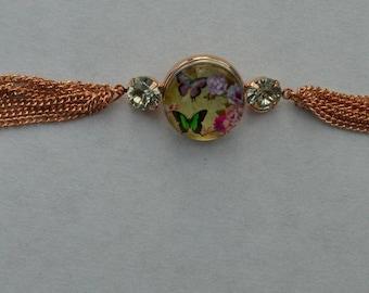 chunk Butterfly chain bracelet
