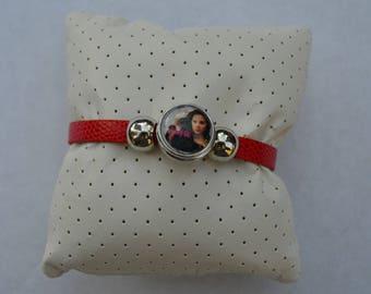 Red chunk bracelet