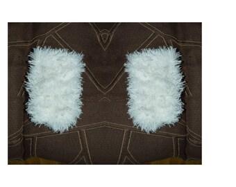 white wool fingerless has long hair 18 cm