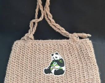 panda knit bag