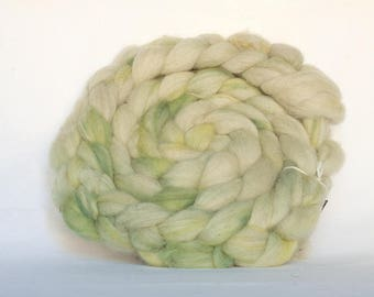 Spinning fiber - Organic wool hand dyed with natural plant dyes - combed top for hand spinning - roving