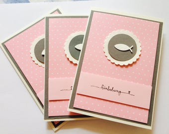 Invitation to the christening, confirmation, confirmation, communion