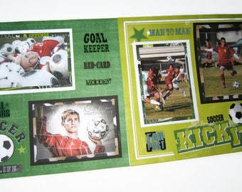 Soccer Pages - Soccer Scrapbook Pages - Premade Soccer Layouts - Premade Soccer Pages - Soccer Scrapbook Layouts - Sports Pages - Soccer