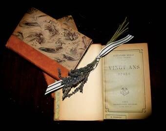 Set of 3 French Antique Leather Bound Books, Paris. c.1800      Sku: B007