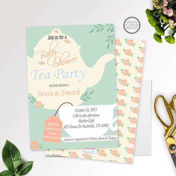 Tea party baby shower invitation baby shower tea party invitation il570xn filmwisefo