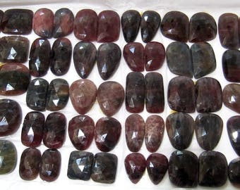 Natural Multi Sapphire Rose Cut Earrings Pairs Gemstone, Genuine Sapphire Briolette Beads, Pack of 30 Pairs, Weight 1855 ct, Precious Beads.