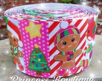 Christmas ribbon,  ginger man ribbon,  Christmas,  ribbon