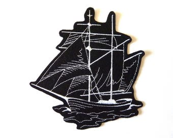 sailboat badge patch embroidered patch