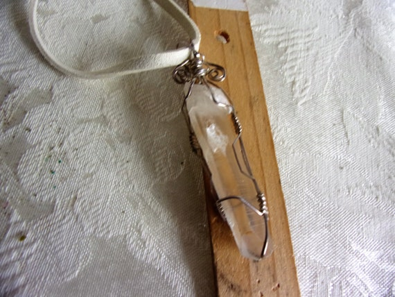 Natural Quartz Point and Silver