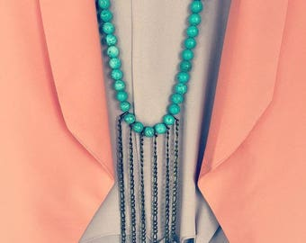 Turquoise Chain Drop Necklace