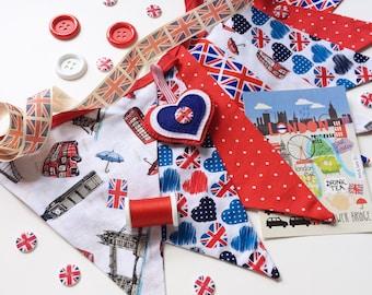 British Home Decor, Love England, London Decor, British Party Decor, Union Jack Decor, Love London, Union Jack Bunting, UK decor, Nessa Foye