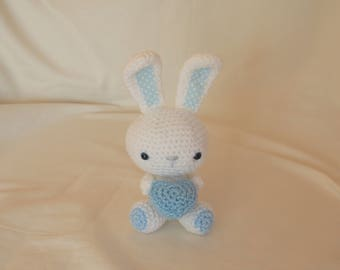 Crochet Bunny, Amigurumi Bunny, crochet rabbit, crochet rabbit, bunny soft toy, bunny plushie, new baby gift, READY TO POST 2-3 days