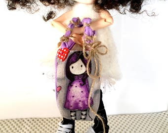 """QBG Designs - Shopping Tote Bag for 12"""" Dolls Blythe / Barbie - Doll Clothes and Accessories"""