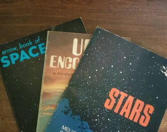 The Space Set - 3 Paperback books- Space, Stars and UFO's