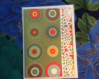 Greeting card, blank card, note card.