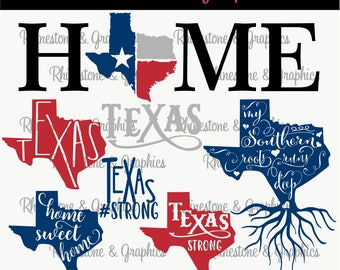 Texas Strong, My Roots Run Deep, Home Sweet Home, Texas Home 7  Pattern Instant Download SVG EPS DXF Cutting file