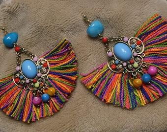 Frida multicolor tassels earrings