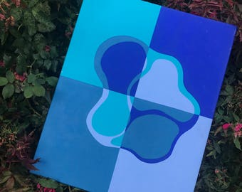 Blue Hues- acrylic painting