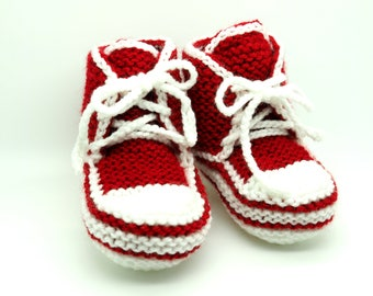 Baby Booties Knit - Baby Shoes Boy - Baby Bootie - Knit Baby Socks - Knitted Baby Booties - Knitted Baby Items - Soft Baby Shoes - Baby Gift
