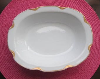 Vintage Haviland Limoges uncovered Oval Vegetable Bowl