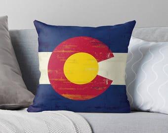 Colorado Pillow | Colorado Gift | Colorado Flag | Colorado Decor | Colorado State Flag | Colorado Home Decor | Colorado Throw Pillow