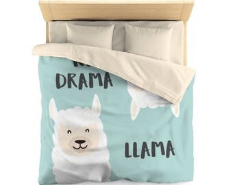 Llama Duvet   Llama Duvet Cover   Llama Bed Cover   Llama Bedding   Llama Bedroom Décor   Llama Twin Duvet   Llama Queen Duvet
