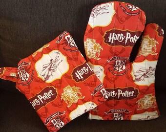 Harry Potter oven mitt and pot holder