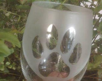 Dog Paw Bandana Glass
