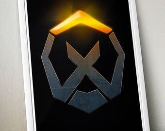 Overwatch – X Marks the Spot signed video game wall art poster / fine art print