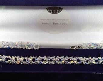 StylishCollar for Dogs or Cats made of Swarowski Crystals and Glass Beads
