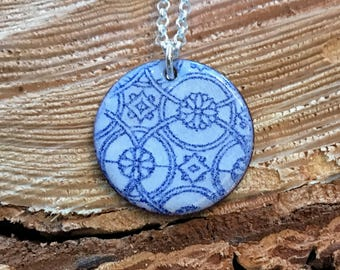 One of a kind enameled necklace