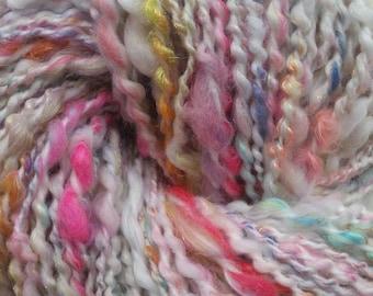 PRETTY skein of yarn spun to spinning wheel.