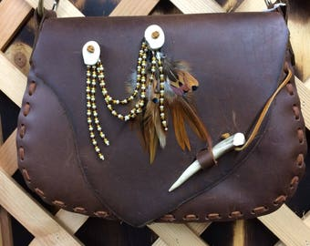 Hand Made Chocolate Brown Leather Purse