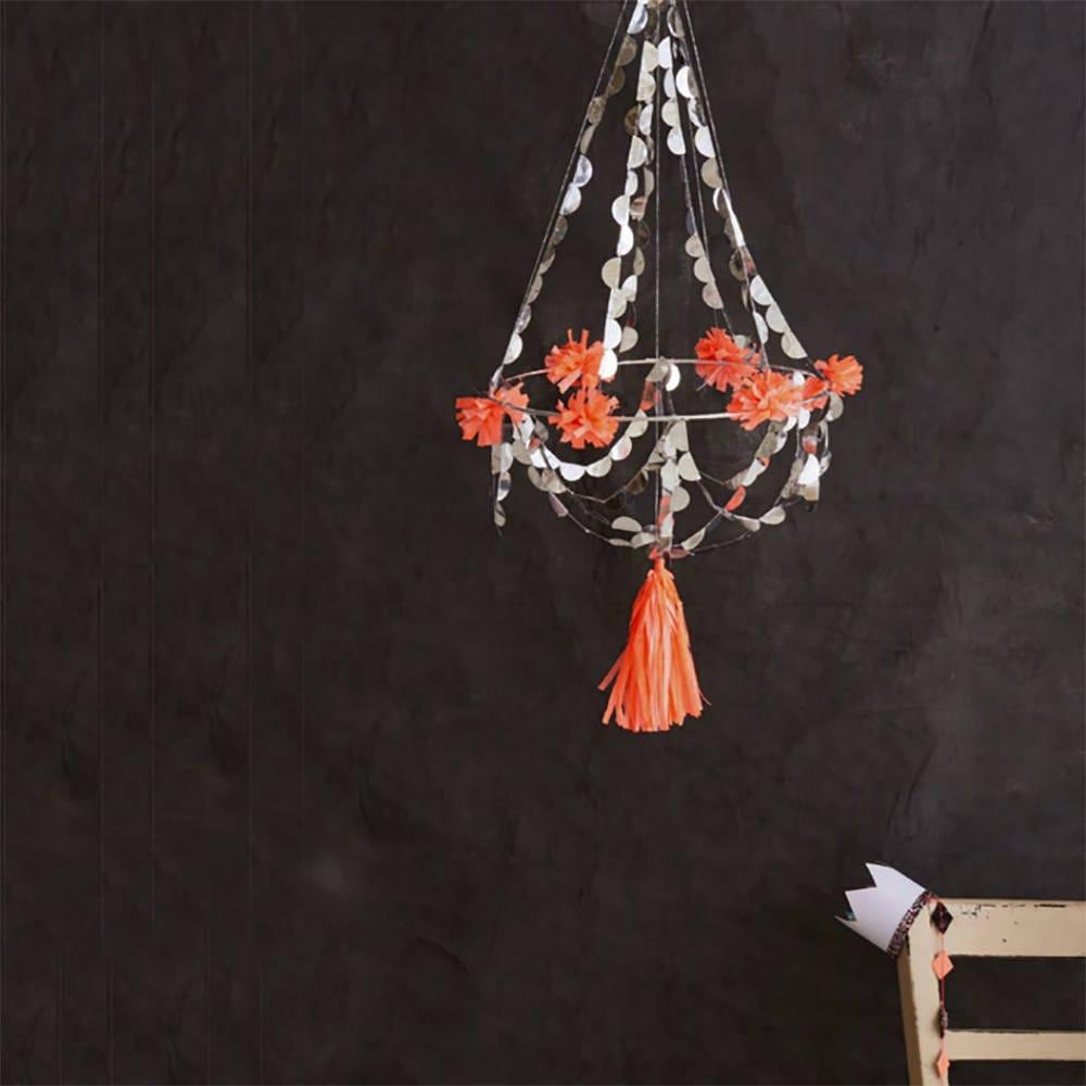 Chandelier decoration party mobile coral hanging chandelier chandelier decoration party mobile coral hanging chandelier pajaki paper chandelier arubaitofo Choice Image