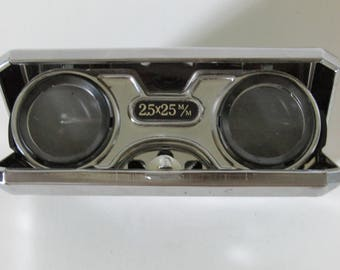 Vintage Sport Glass 2.5X Folding Opera Binoculars 1960's