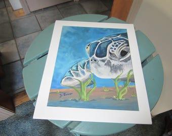 Turtle Giclee Print, Fine Art Print, Wall Art, Home Decor,