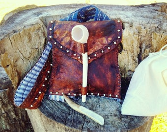 Deer Hide Neck Style Smoking Pouch