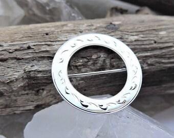 Sterling Silver Circle Brooch
