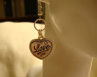 love earrings, heart earrings, valentine's day earrings, valentine's day gift, valentine's day, cute heart earrings,  heart gift decor (316)
