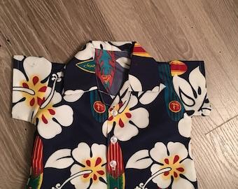 Hawaiian baby boy shirt