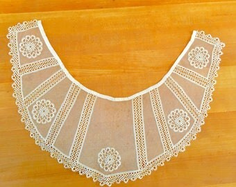 Antique Lace Collar Vintage Edwardian Victorian  Costumes Notions Gypsy Boho Fashion
