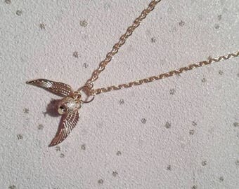 golden snitch necklace harry potter charm necklace gifts