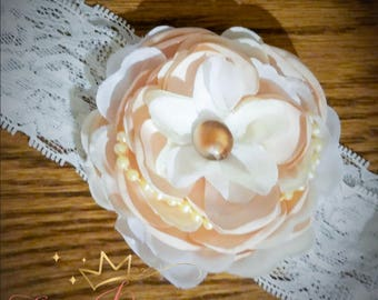 Spring Singed flower headband
