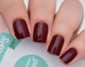 Dark Burgandy (Perfect for fall/winter) Nail Polish Wraps