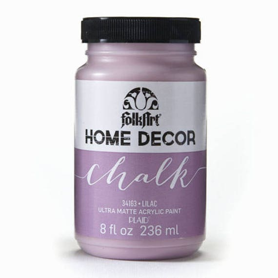 Lilac Folkart Home Decor Chalk Paint 8 Oz.Lilac Chalk