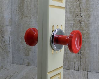 Vintage red door knob Old door knobs Vintage door knobs door handles Soviet door handles Metal door handle Rustic handles Retro knobs
