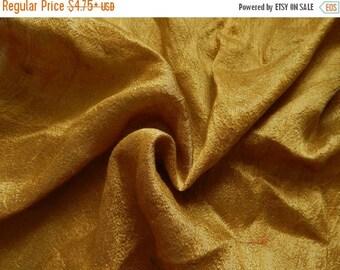 10% OFF Pure Silk Fabric, Pure Dupioni Silk Fabric, Silk Fabric, Indian Silk Fabric, Gold Silk Fabric