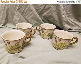 Lot of 4 Villeroy & Boch Forsa Tea cups mugs